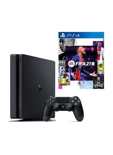 Sony PS4 Slim 1 Tb Oyun Konsolu + PS4 FIFA 2021 Siyah
